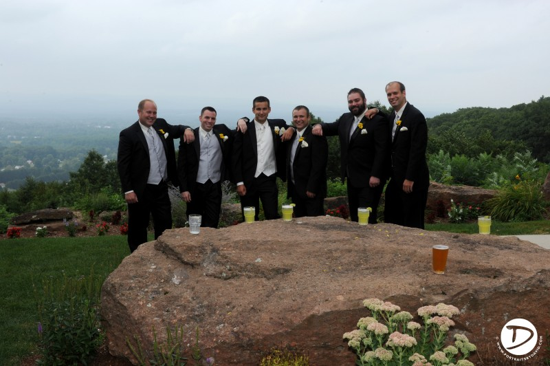 Log cabin Delaney House wedding photo Holyoke Ma