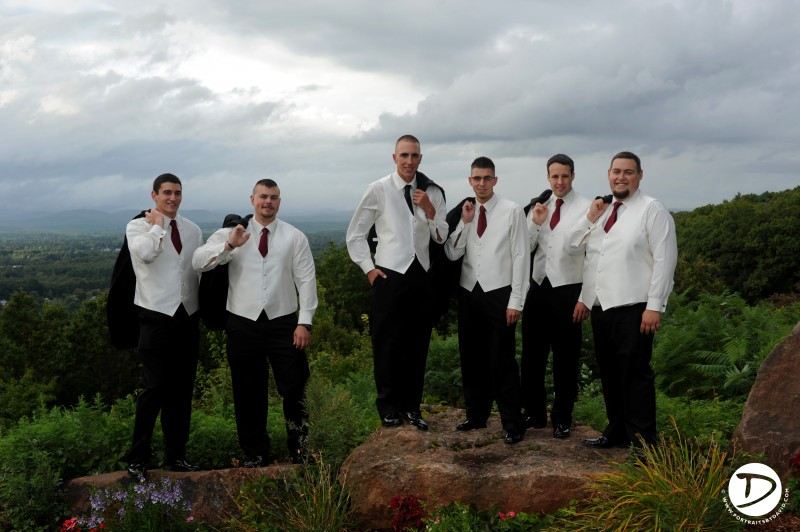 Log cabin wedding photo holyoke massachusetts