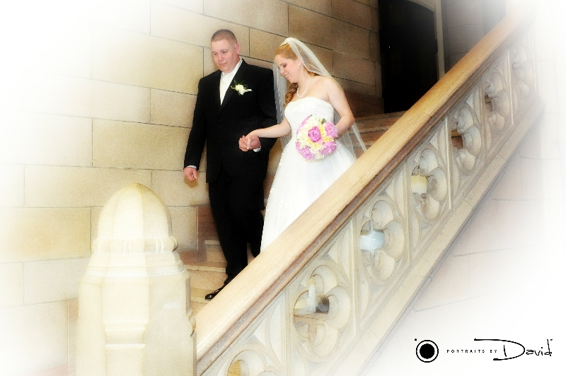 Elms College wedding photo