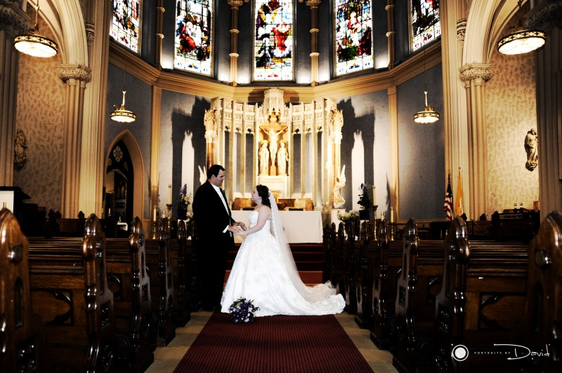 Sacred heart Church Springfield Ma wedding photo