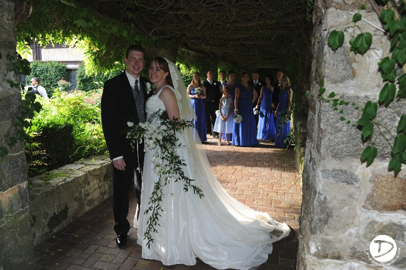 st clements castle wedding photo