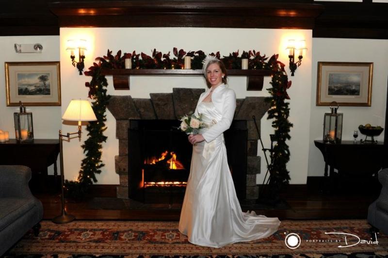 Winter wonderland wedding western Ma