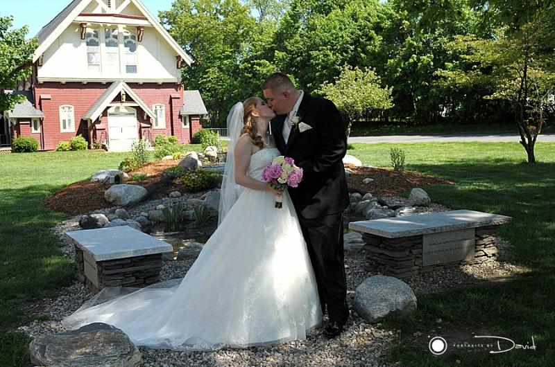 Elm's College wedding photo