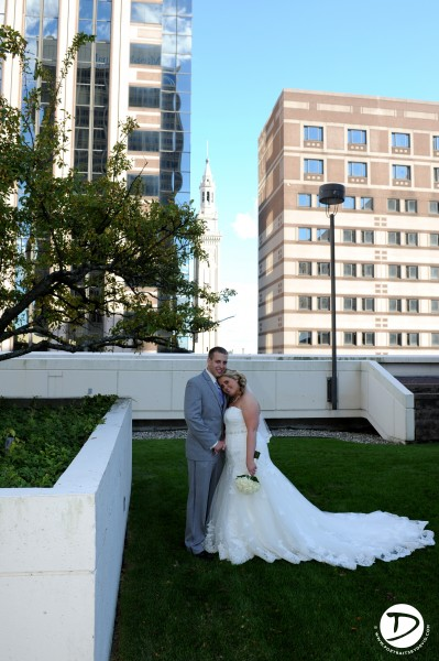 Springfield Marriott wedding photo