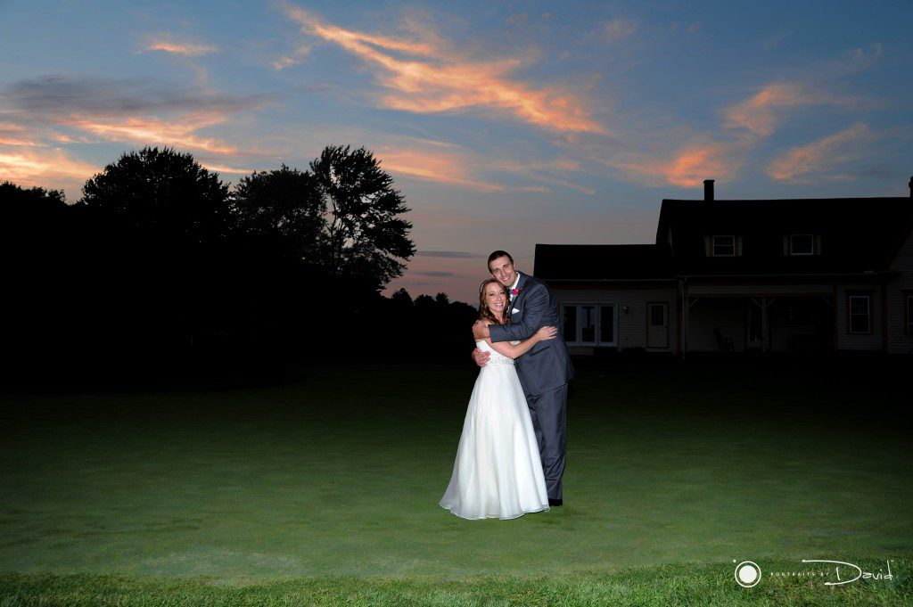 Ranch golf club wedding photo